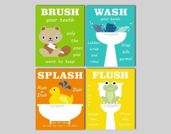 Kids Bathroom Art Bathroom Prints Bathroom Wall Art Rubber Intended For Kids Bathroom Wall Art (Image 13 of 20)