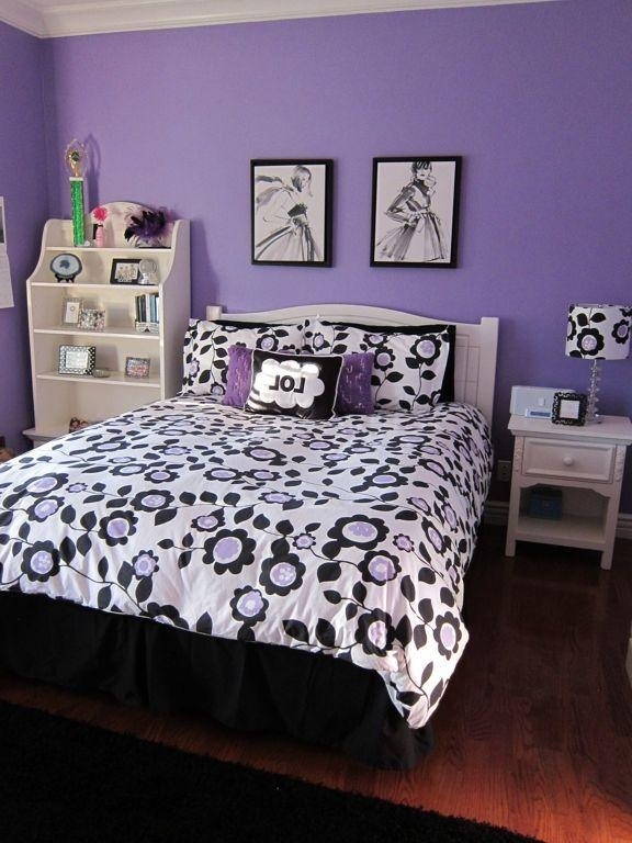 Kids Bedroom : Cool Teen Purple Bedroom Decor Ideas With Purple For Purple Wall Art For Bedroom (Image 11 of 20)