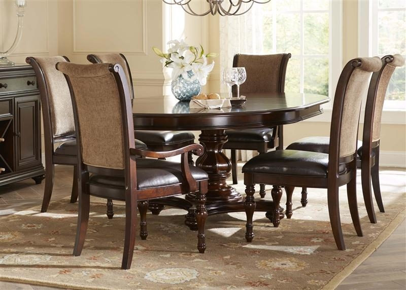 Kingston Plantation Oval Pedestal Table 5 Piece Dining Set In Hand With Regard To Latest Kingston Dining Tables And Chairs (Image 19 of 20)