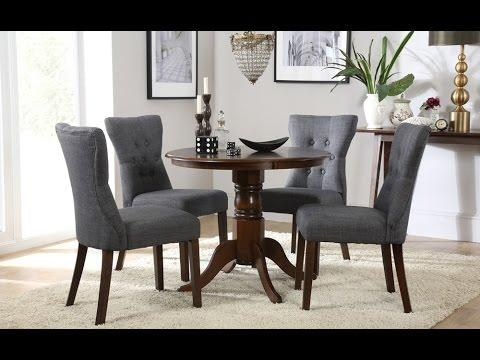 Kingston Round Dark Wood Dining Tablefurniture Choice – Youtube Throughout Current Kingston Dining Tables And Chairs (Image 20 of 20)