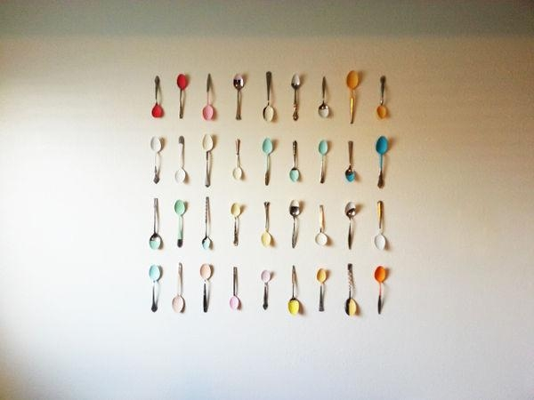 Kitchen Cutlery Decor : Painted Spoon Wall Art Throughout Silverware Wall Art (View 20 of 20)
