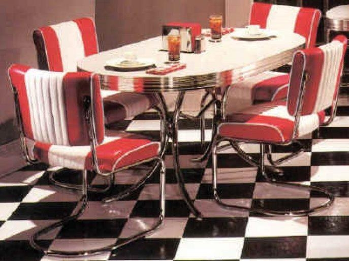 Kitchen : Magnificent Retro Furniture Retro Table And Chairs Retro With 2018 Chrome Dining Room Sets (View 20 of 20)