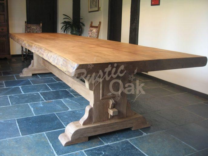 Kitchen : Marvelous Light Oak Kitchen Table Rustic Oak Dining With Most Up To Date Rustic Oak Dining Tables (Image 6 of 20)