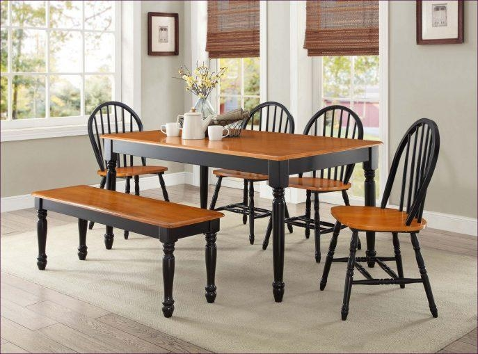 Kitchen Room : Round Wooden Dining Table And 4 Chairs Dining Room Intended For Most Up To Date Mahogany Dining Tables And 4 Chairs (Image 12 of 20)