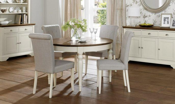 Kitchen : Round Kitchen Table Sets Dq Wallpaper Tp Rustic Dining For Most Recently Released Round Extending Dining Tables Sets (Image 12 of 20)