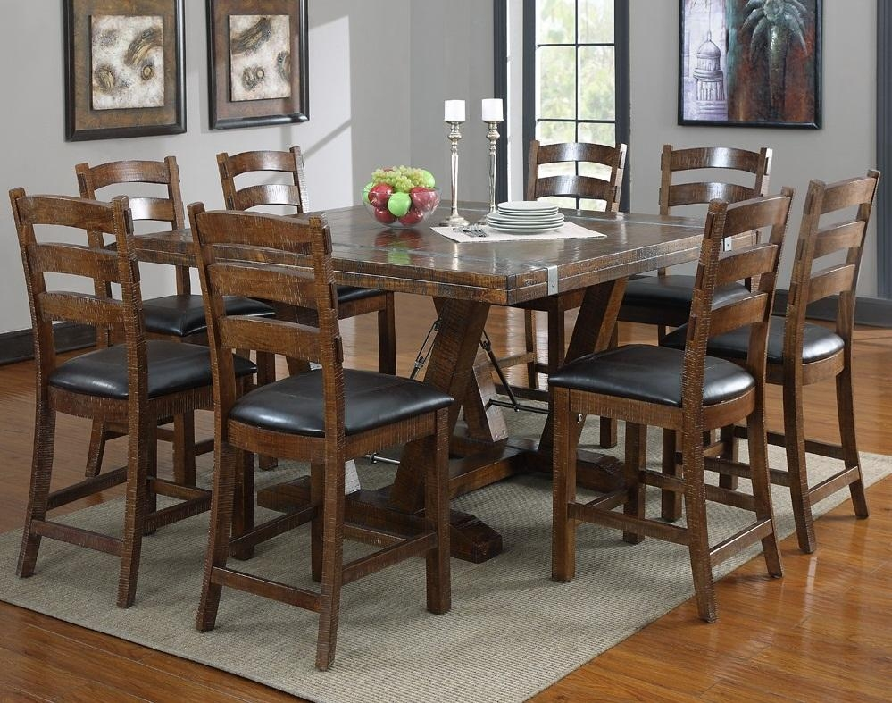 Kitchen : Square Dining Table Dark Wood Dining Chairs With Black With 2017 Dark Wood Square Dining Tables (Image 12 of 20)