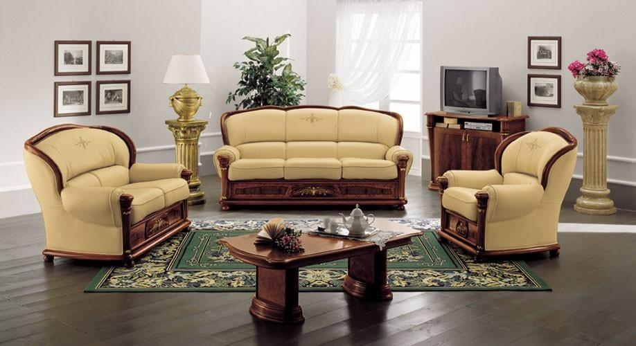 Klassica – Classic Italian Leather Sofa Set Pertaining To Italian Leather Sofas (View 9 of 20)