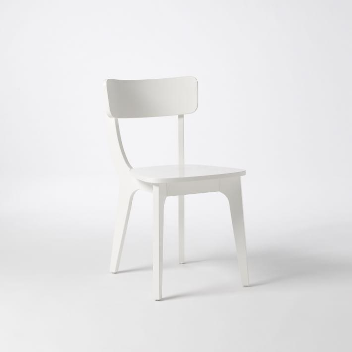 Klismos Dining Chair – White | West Elm Inside Most Current White Dining Chairs (Image 13 of 20)