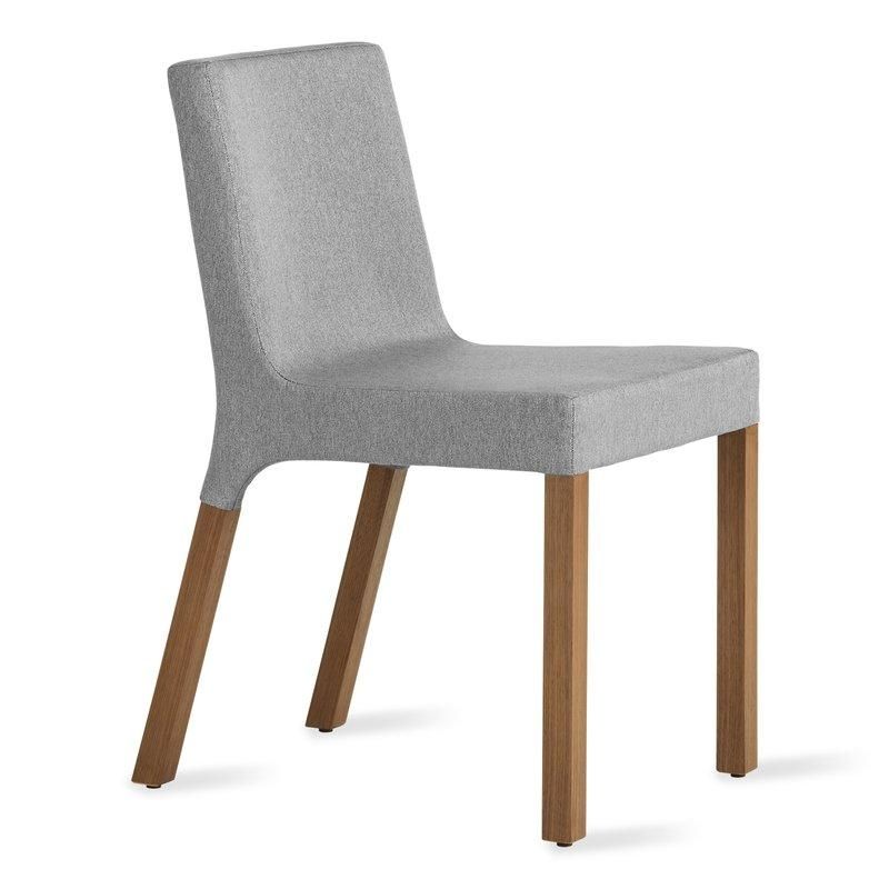 Knicker Genuine Leather Upholstered Dining Chair & Reviews | Allmodern In Real Leather Dining Chairs (Image 9 of 20)