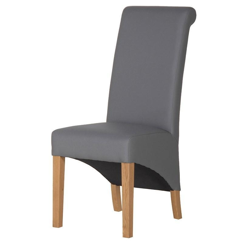 Knot Back Grey Faux Leather Dining Chair | Mulberry Moon Within Grey Leather Dining Chairs (View 8 of 20)