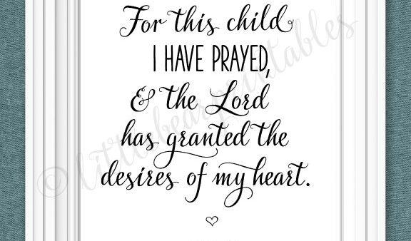 Kryplos | Wall Art Design Ideas – For For This Child I Have Prayed Wall Art (Image 18 of 20)
