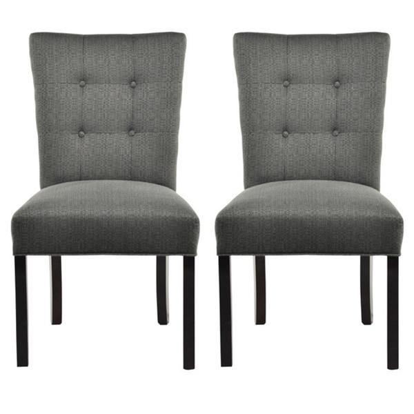 La Mode 4 Button Stitched Fanback Candice Dining Chair (Set Of 2 For 2018 Button Back Dining Chairs (Image 15 of 20)