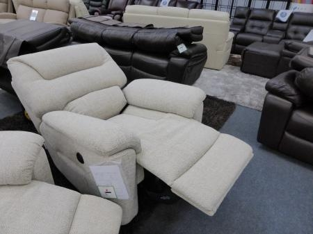 La Z Boy Manhattan Cream Fabric 3 & Chair Electric Recliners For Lazy Boy Manhattan Sofas (View 17 of 20)