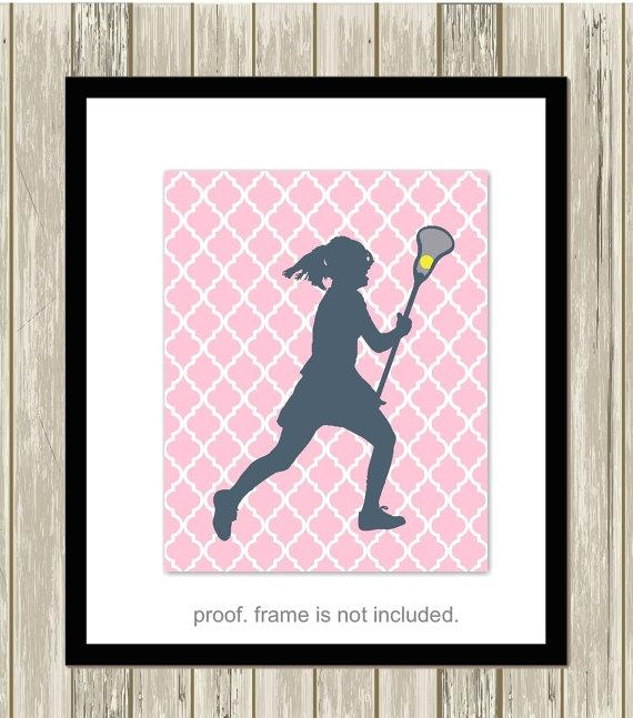 Lacrosse Wall Art Girls Room Wall Art Lacrosse Room Decor Throughout Lacrosse Wall Art (View 9 of 20)