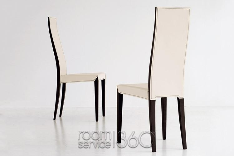 Lady High Back Leather Dining Chaircattelan Italia Within High Back Leather Dining Chairs (Image 14 of 20)