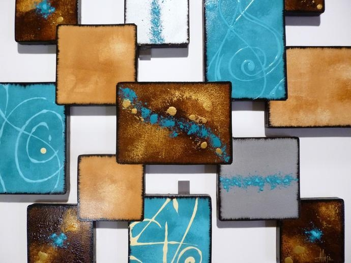 "Laguna Square"" Contemporary Modern, Abstract 