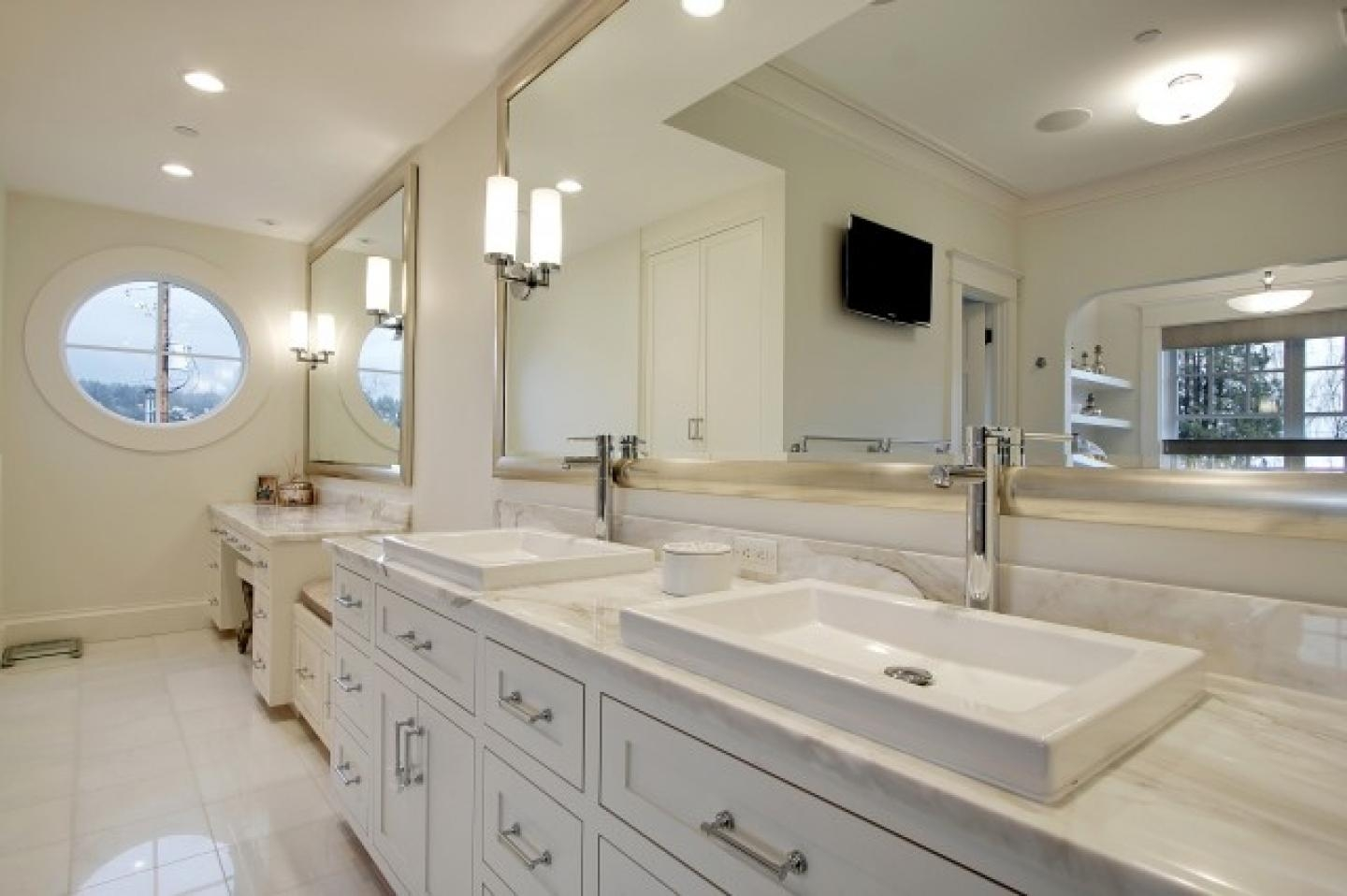 Large Commercial Bathroom Mirrors And Large Custom Bathroom Within Commercial Bathroom Mirrors (Image 17 of 20)