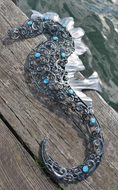 Large Metal Seahorse Wall Art – Dorset In Sea Horse Wall Art (Image 10 of 20)