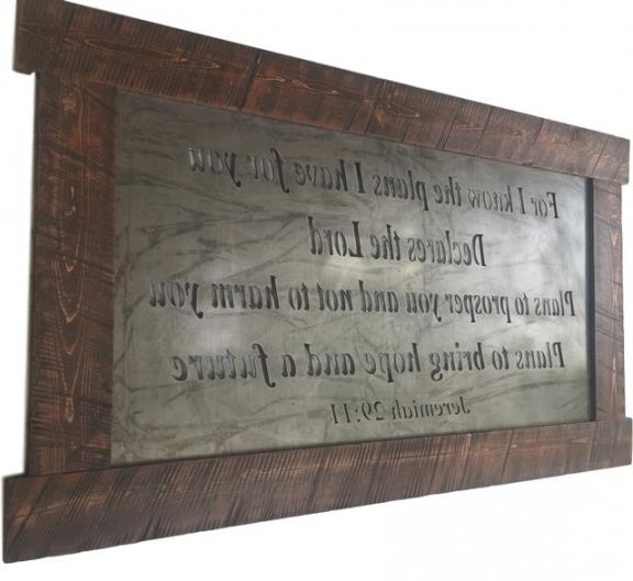 Large Metal Wall Art, Scripture Jeremiah 29:11 – Traditional In Jeremiah 29 11 Wall Art (Image 12 of 20)