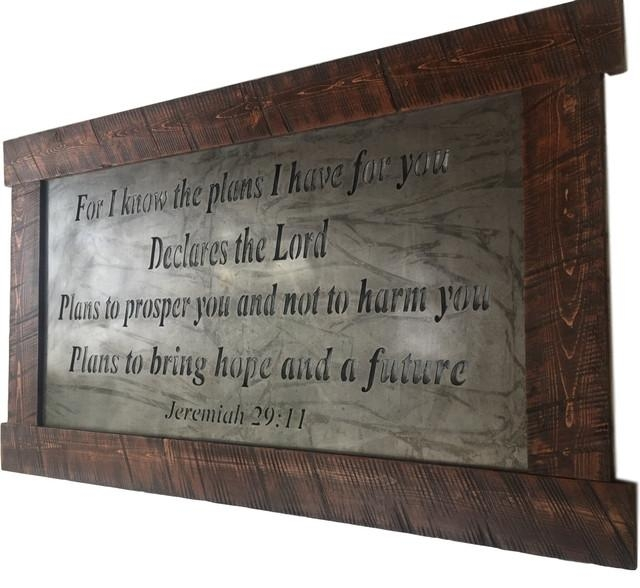 Large Metal Wall Art, Scripture Jeremiah 29:11 – Traditional In Rectangular Metal Wall Art (Image 13 of 20)