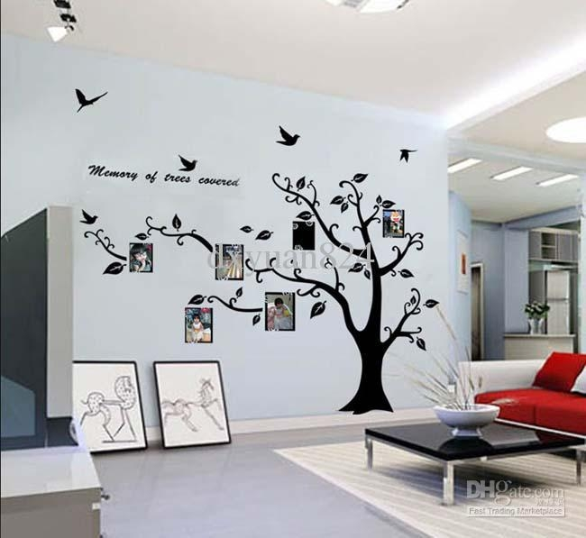 Large Photo Frame Family Tree Wall Art Stickers Decoration With Throughout Wall Art Deco Decals (Image 9 of 20)