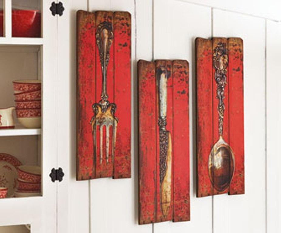 Large Spoon And Fork Wall Art : Oversized Spoon And Fork Wall Regarding Silverware Wall Art (View 7 of 20)