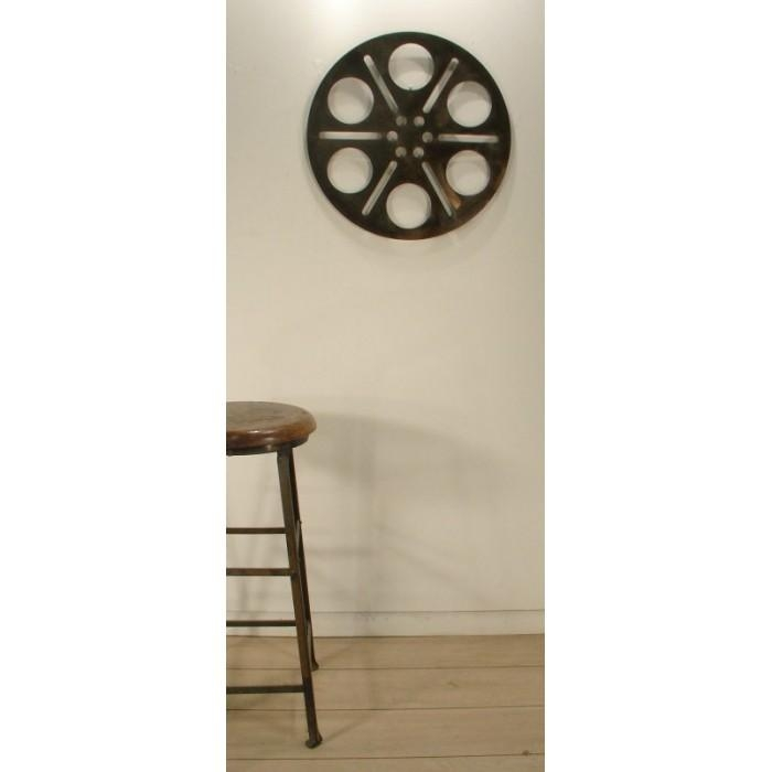 Large Steel Cinema Reel Inspired Wall Art Inside Movie Reel Wall Art (View 10 of 20)