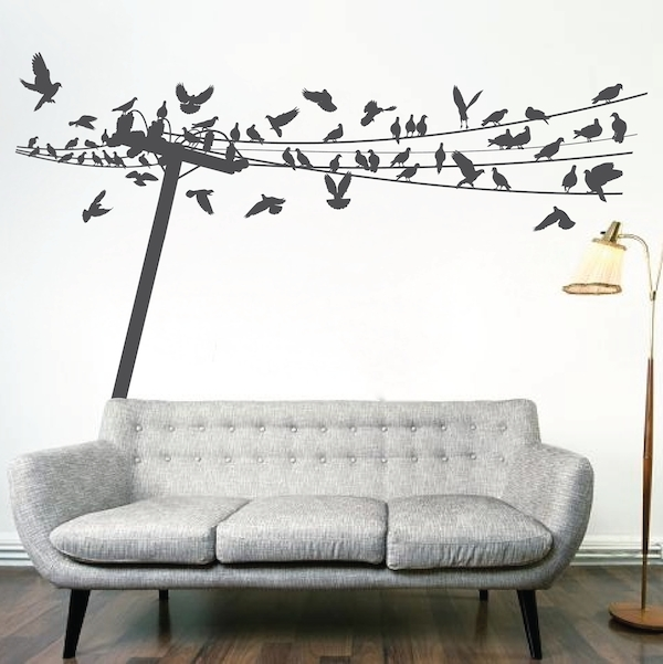 Large Wall Decals, Wall Clings & Wall Appliqués – Trendy Wall Designs For Wall Cling Art (Image 10 of 20)