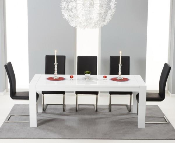 Large White Gloss Extending Table 3 M 12 Seater | £55 Off With In Current Large White Gloss Dining Tables (Image 10 of 20)
