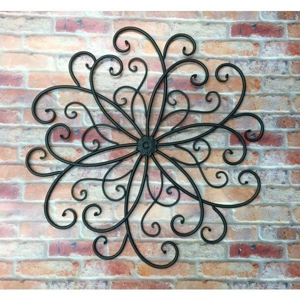 Large Wrought Iron Wall Art – Wall Art Design In Large Metal Wall Art For Outdoor (Image 10 of 20)