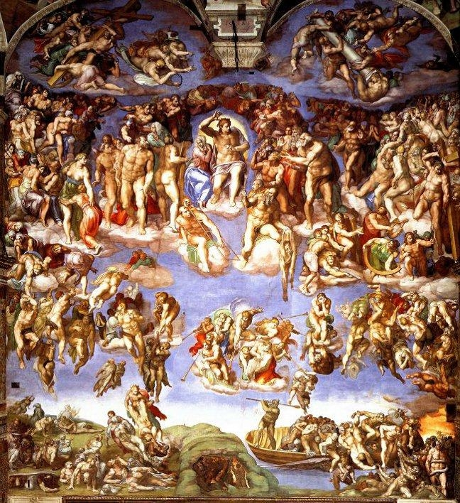Last Judgement, Michelangelo's Sistine Masterpiece With Regard To Italian Renaissance Wall Art (View 6 of 20)