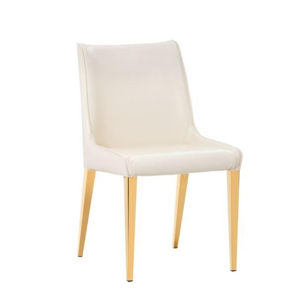 Leather Parson, Dining Room & Kitchen Chairs :: Sr 101751 Faux Throughout Current Cream Faux Leather Dining Chairs (View 11 of 20)