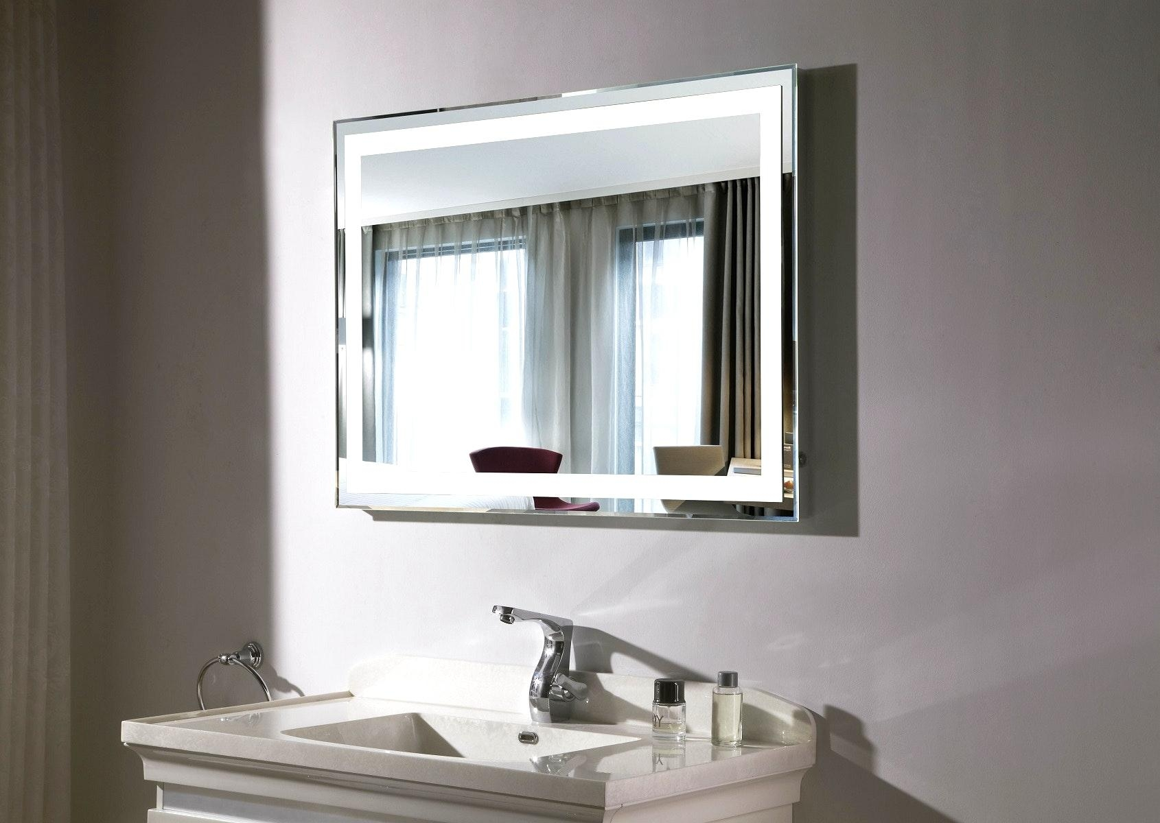 Led Lighted Mirrors Bathrooms With Bathroom Perfect Makeup Mirror In Led Lighted Mirrors (Image 15 of 20)