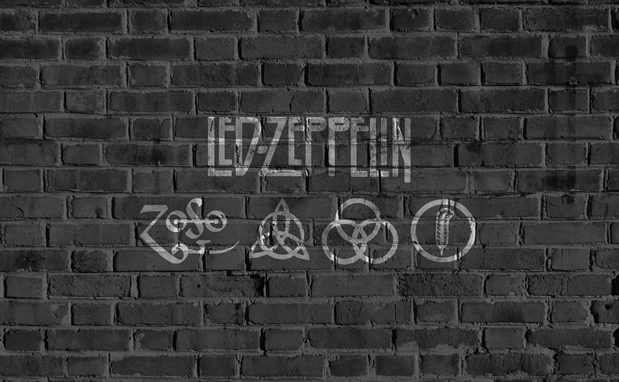 Led Zeppelin Brick Wall Digital Artdan Sproul Inside Led Zeppelin Wall Art (Image 4 of 20)