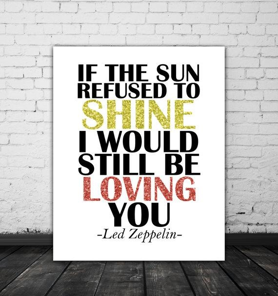 Led Zeppelin Lyrics Love Song Lyric Art Music Poster Led Throughout Led Zeppelin Wall Art (View 9 of 20)