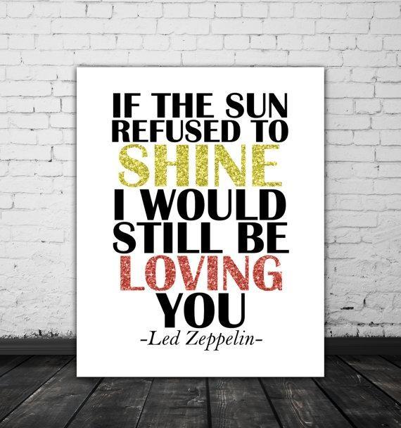 Led Zeppelin Lyrics Love Song Lyric Art Music Poster Led Throughout Led Zeppelin Wall Art (Image 5 of 20)