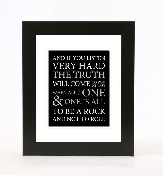 Led Zeppelin: Stairway To Heaven Lyrics Wall Art 8X10 Print For Led Zeppelin Wall Art (View 3 of 20)