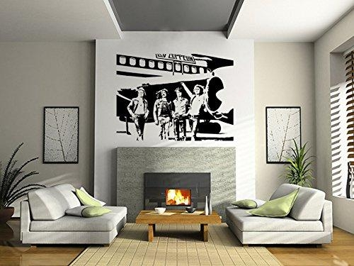 Led Zeppelin Wall Art Sticker Rock Music Decal Band Vinyl Mural In Led Zeppelin Wall Art (Image 7 of 20)