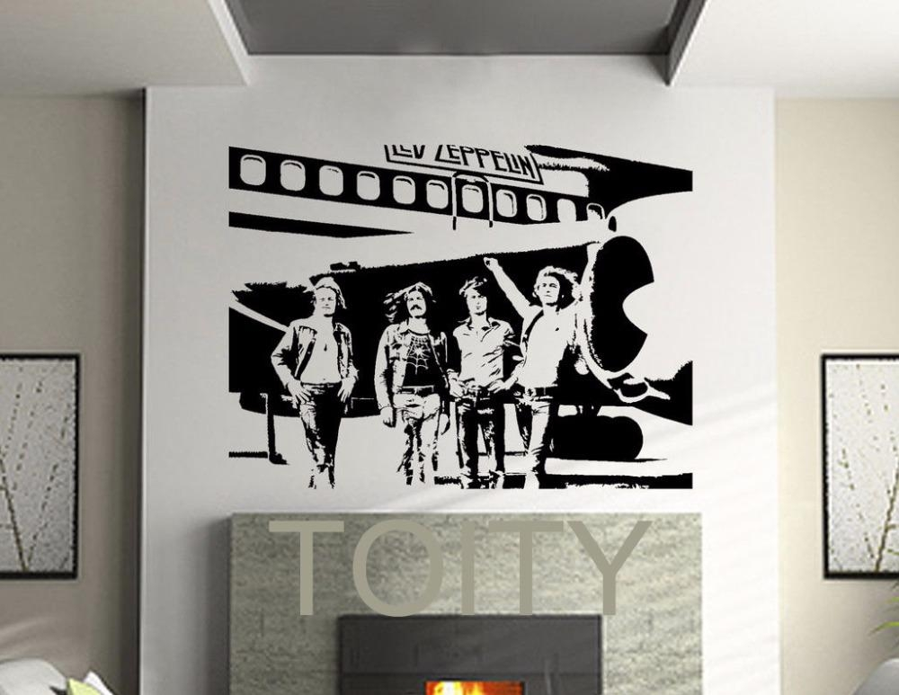 Led Zeppelin Wall Stickers English Rock Band Vinyl Decals Heavy With Wall Art Deco Decals (Image 10 of 20)