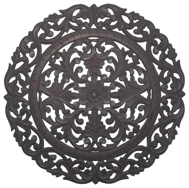Leroy Handcrafted Wall Medallion – Traditional – Wall Accents – With Regard To Fetco Home Decor Wall Art (Image 14 of 20)