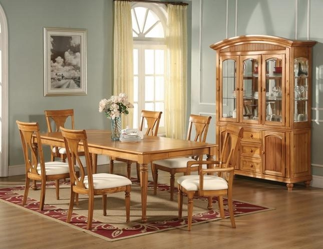 Lexington Formal Dining Light Oak Table Chairs Homelegance Inside 2018 Light Oak Dining Tables And Chairs (Image 11 of 20)