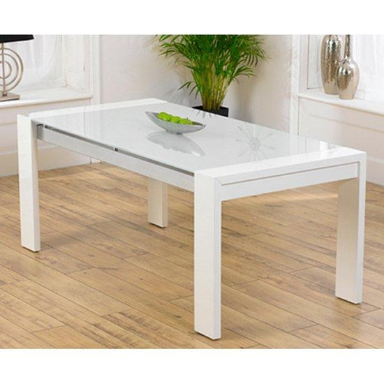 Lexus High Gloss White Glass Dining Table Only 13175 For Current White Gloss And Glass Dining Tables (View 5 of 20)