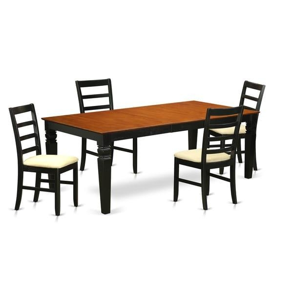 Lgpf5 Bch 5 Pc Dinette Table Set With One Logan Dining Table And 4 With Regard To 2018 Logan Dining Tables (Image 12 of 20)