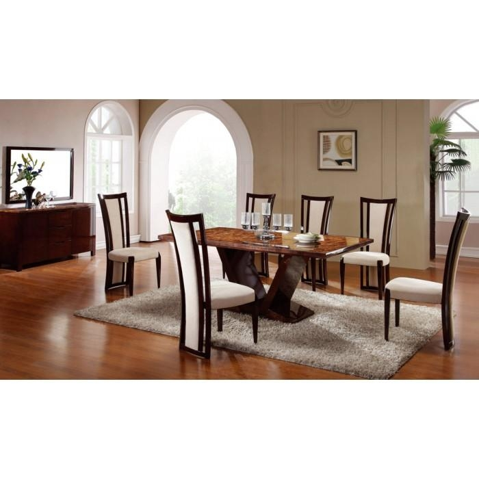Libra Modern Marble Dining Set For Most Current Marble Dining Chairs (Image 11 of 20)