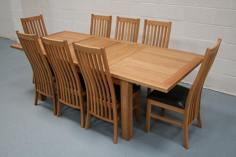 Lichfield Extending Dining Tables | 8 Seater Oak Dining Table Set Inside Most Recent Extending Oak Dining Tables And Chairs (Image 14 of 20)