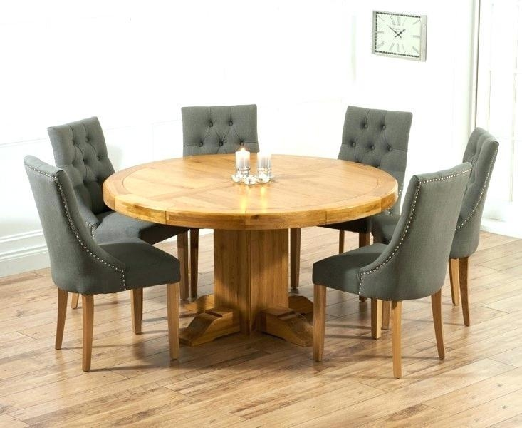 Light Oak Dining Table And 6 Chairs – Mitventures (View 17 of 20)