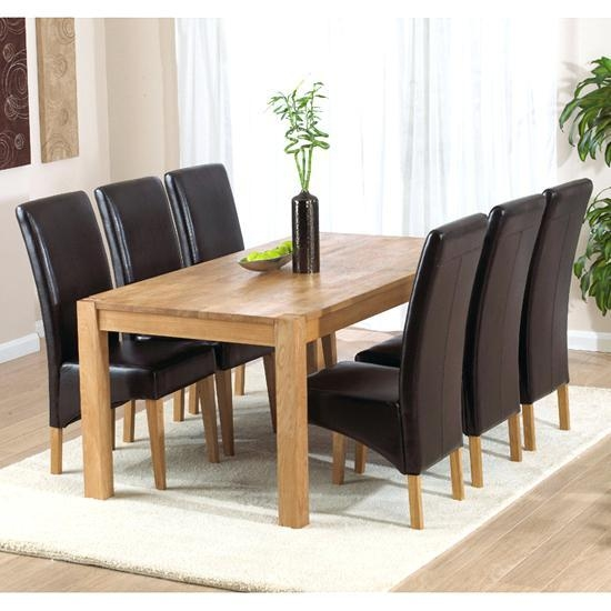 Light Oak Dining Table And 6 Chairs – Mitventures (Image 15 of 20)