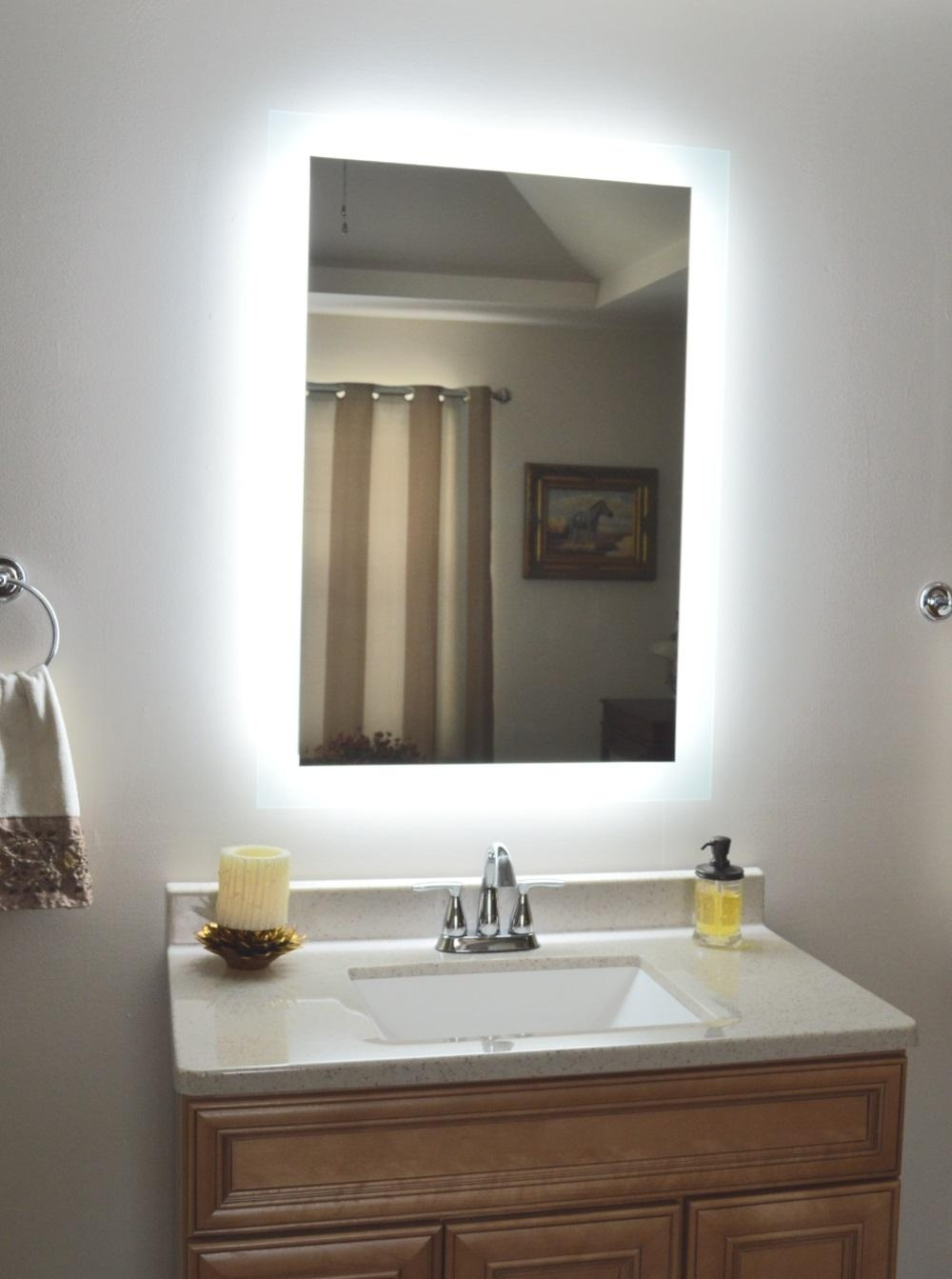Lighted Vanity Mirror Throughout Lighted Vanity Mirrors For Bathroom (Image 15 of 20)