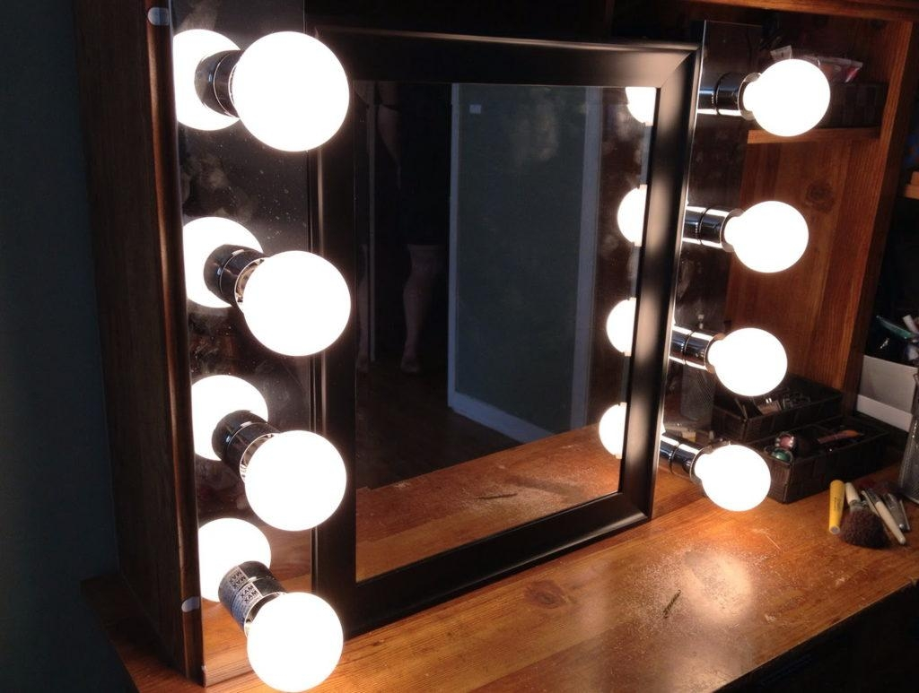 Lighted Vanity Mirror Wall Mount Ideas — The Homy Design With Regard To Wall Mounted Lighted Makeup Mirrors (Image 8 of 20)