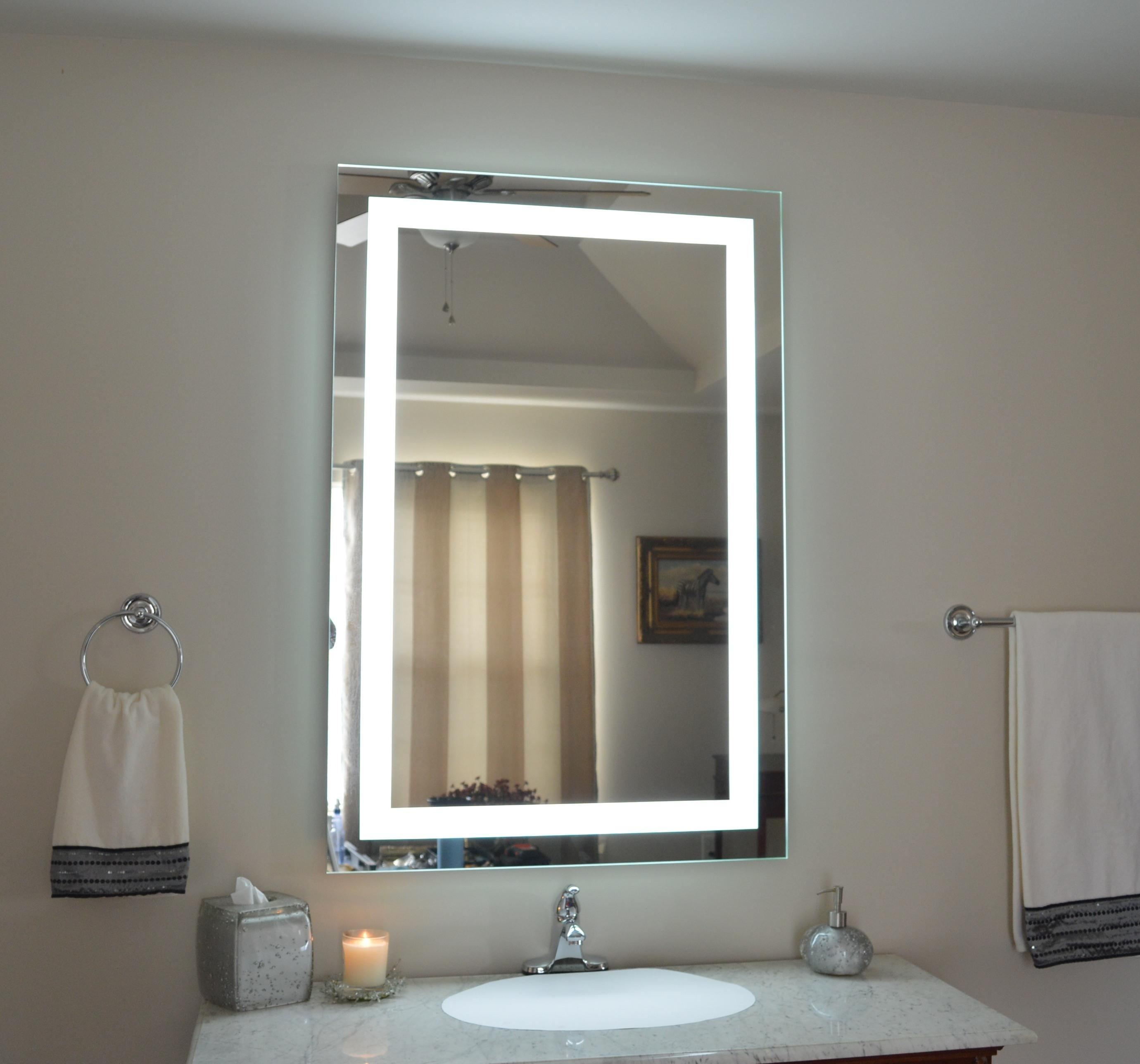 Lighted Vanity Mirror With Regard To Lighted Vanity Wall Mirrors (Image 13 of 20)